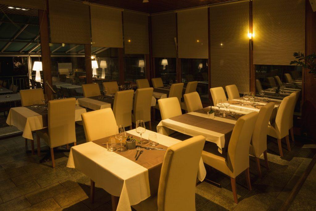 intérieur nuit, Restaurant du Tennis Lausanne